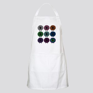 A Rainbow of Sheep BBQ Apron